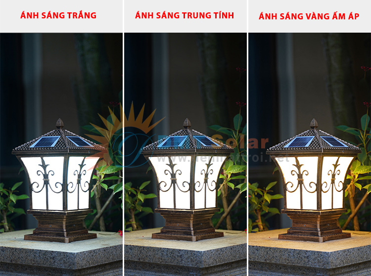 Đèn trụ cổng năng lượng mặt trời DMT-TC01
