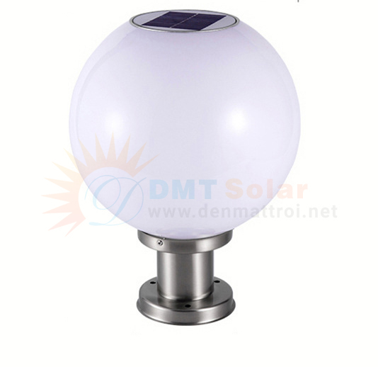 Đèn trụ cổng tròn năng lượng mặt trời DMT-TC02 (Nhiều kích thước)