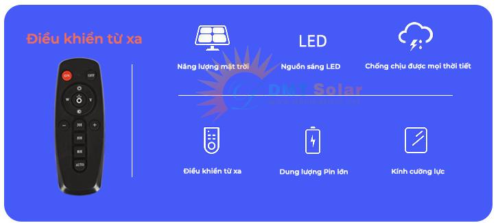 Đèn pha năng lượng mặt trời 200W DMT-P200TR